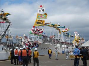なびく大漁旗